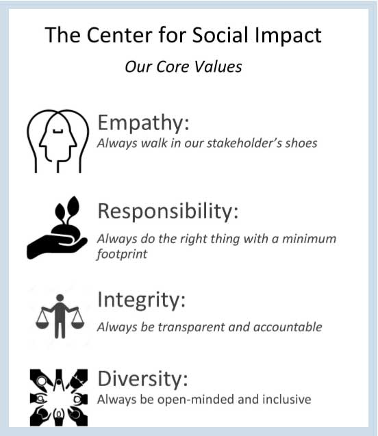 centre for social impact values